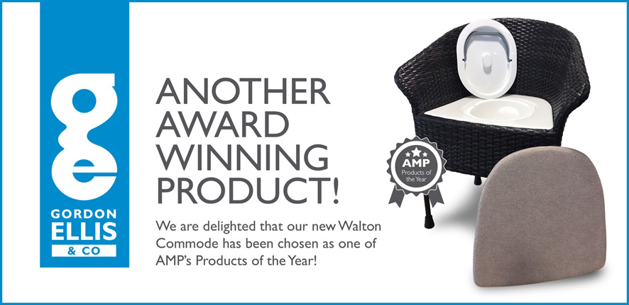 Walton Commode, award-winning AMP Mobility Products of the Year 2017